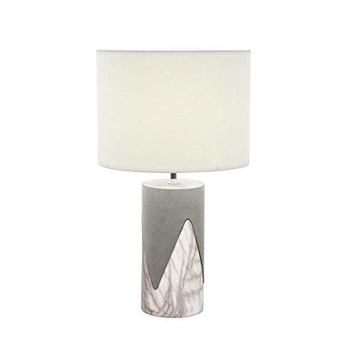 Benzara Ceramic Table Lamps Bm119267 Benzara Captivating Ceramic Concrete Metal Table Lamp 13 X 24 X 13 Inches White