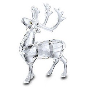 Swarovski Clear Crystal Reindeer Figurine (No Mirror)