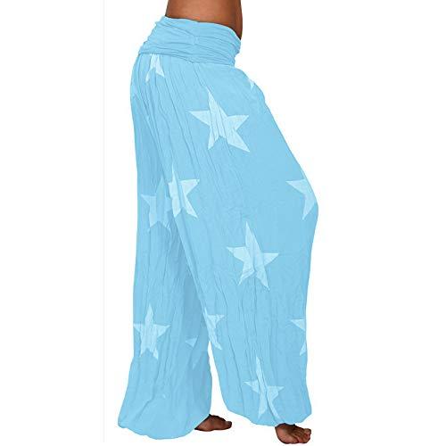 Sarouel Boho Pants Harem Cheville Bloomers Floral Clair Pantacourt Légers Shujin Femmes Pantalon Balloon Bleu Imprimer Longue Yoga Aladdin nqp0YwEH