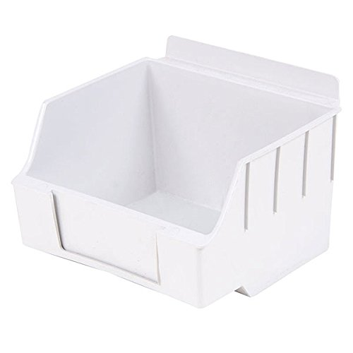 New Retail Standard White Storbox for Slatwall 4.65''d x 5.5''w x 3.35''h by Storbox