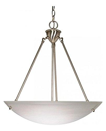3 Light - 23In. - Pendant - Alabaster Glass Bowl