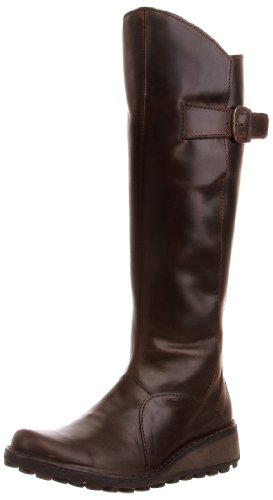 da Donna Leather Fly Marrone Brown London Stivali P210318 Mol Dk wqO7OgX