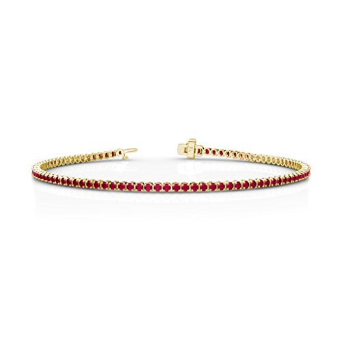Ruby 1.7mm Tennis Bracelet 1.39 cttw in 14K Yellow Gold 14k Yellow Gold Ruby Bracelet