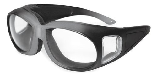 Specialized Safety Products KACHESS SLV/BLK CL A/F 95187 Unisex Safety Glasses with Silver/Black Frames and Clear Anti-Fog - Specialized Sunglasses
