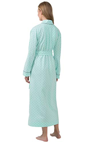 PajamaGram Long Women's Cotton Robes - Soft Robe Womens