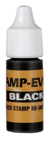 Stamp-Ever Pre-Inked Refill Ink, 7ml Bottle, Black (5027)