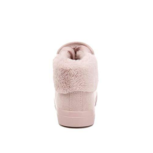 NAFTY Damenschuhe Stiefel Plüsch Frauen Frauen Frauen Erwärmung Stiefel Wildleder Outdoor Winter Feder Freizeitschuhe Langlebig Weibliche Schnee Stiefel Schuhe 8f079d