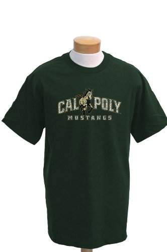 NCAA Men's Cal Poly Mustangs Biggies Short Sleeved T-Shirt (Forest Green, Large)