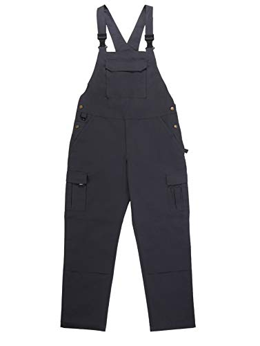 Krumba Men's Outdoor Quick Dry Waterproof Patched Cargo Bib Overalls 38 CHARCOAL ()