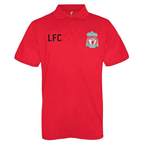 Liverpool Football Club Official Soccer Gift Mens Crest Polo Shirt Red XL