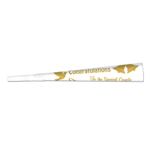 Beistle 66200G100 100-Pack Printed Wedding/Anniversary Trumpets, 9-Inch]()