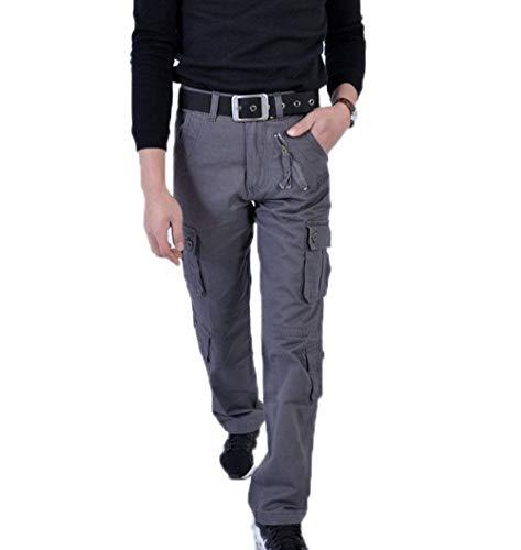 Casuales Multifuncionales Sólido Los Del Hombres Acampar Pantalones Multi Aire Cómodo Libre De Battercake Al Bolsillo Carga Grau Color wZxaqOXC