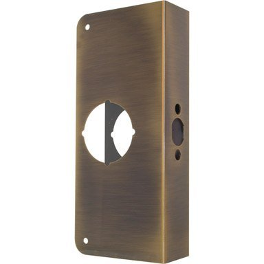 Install Lock MAG Manufacturing 55301A MAG Security #2004-PBV Polished Brass Door Reinforcer 9 in
