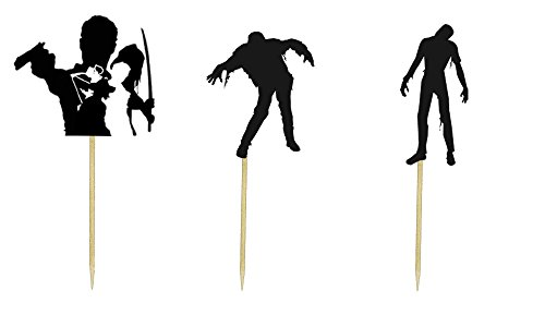 Walking Dead Theme Cupcake Toppers