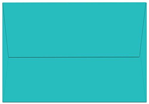 """50 Aqua Ocean Blue A1 Envelopes - 5.125"""" x 3.625"""" - Square Flap"""