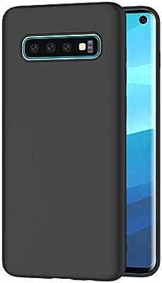 AICEK Funda Samsung Galaxy S10, Negro Silicona Fundas para Samsung ...