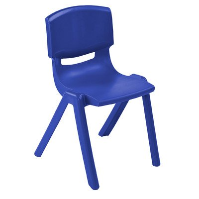 Resin Classroom Stacking Chair  Seat Color: Blue, Seat Heigh