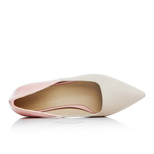 Low Pink Color Shoes Pointed Toe Pull Pu Women's Pumps Heels Assorted Closed WeiPoot On 17T0Onqq