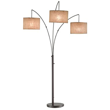 Adesso 4238-26 Trinity Arc Lamp, Antique Bronze