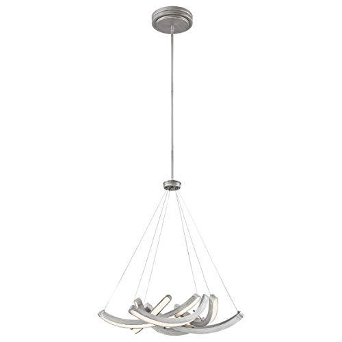 George Kovacs P1336-665-L Swing Time Pendant, 6-Light LED 264 Total Watts, Brushed Silver