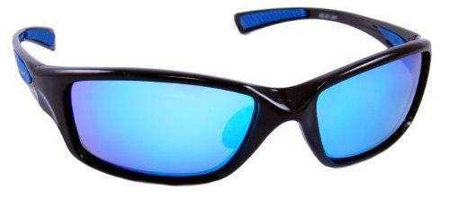 Optic Edge Wrap Frame Jam Sunglasses, Black, Fire Orange - Optic Sunglasses Edge