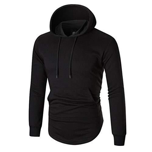 shirt shirt Capuche Pas Aimee7 À Cher Sweat Zip Noir Longues Homme T Hauts Arrière Manches Bw5g5Acq