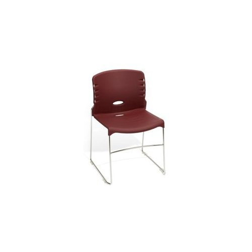 Sled Base Poly Stack Chair Gray Plastic/Silver Frame