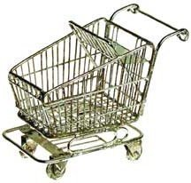 Dollhouse Miniature Shopping Cart for sale  Delivered anywhere in USA