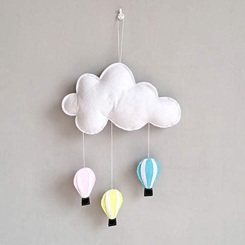(Bluelans Cloud Hot Air Balloon Ceiling Wall Hanging Decoration Ornament DIY Baby Room Decor Kids Room Decoration for Baby Shower White)
