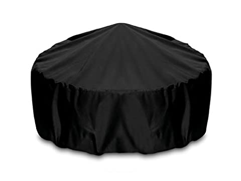 Smart Living 2D-FP36005 Fire Pit Cover With Level 4 UV Protection, 36-Inch, Khaki (Two Dogs Designs Fire Pit Cover)