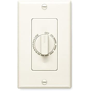 Broan 57v Electronic Variable Speed Control Ivory 3 Amp Capacity 120v Bath Fan Control Ceiling