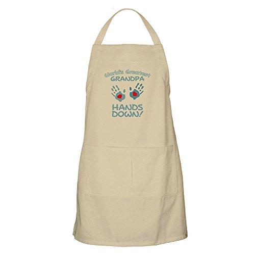 CafePress World's Greatest Grandpa! BBQ Apron Kitchen Apron with Pockets, Grilling Apron, Baking Apron