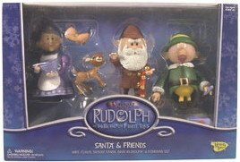 Rudolph Santa and Friends Box Set Foreman Elf, Santa, Mrs. Claus, Baby Rudolph