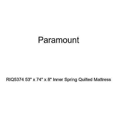 "Paramount RIQ5374 53"" x 74"" x 8"" Inner Spring Quilted Mattress"