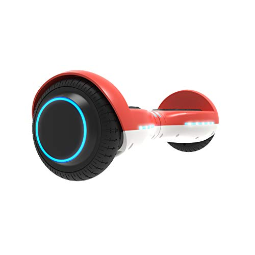 GOTRAX ION LED Hoverboard - UL Certified Hover Board w/Self Balancing Mode (Red)