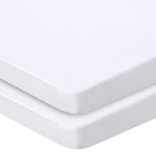 Babies R Us Knit Cradle Sheet 2 Pack - White by Babies R Us