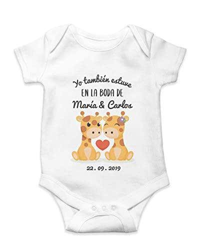 Body Bebé Personalizado Jirafas Boda Regalo