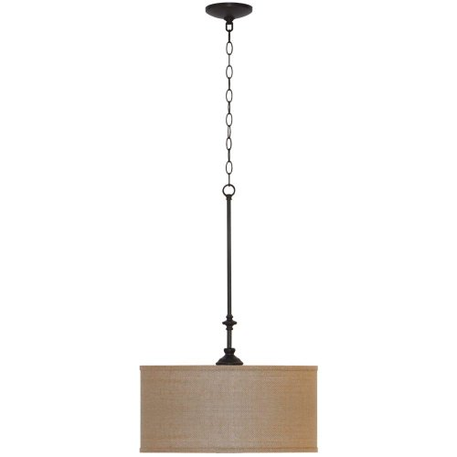 3 Light Pendant Drum Shade - 5