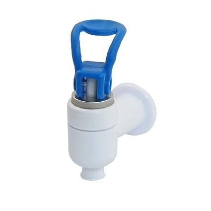 eDealMax mano azul Empuje Bebida caliente 9mm salida Grifo de Ángel Dispensador de agua