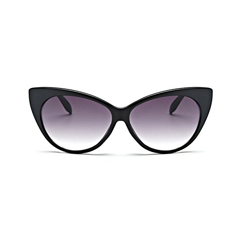 Coolsunny Super Cat Eye Glasses Vintage Inspired Mod Fashion Clear Lens Eyewear CS08781 (Black-Gray, 67)