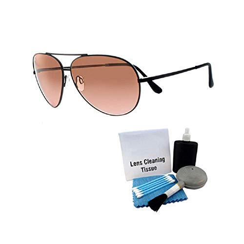 Serengeti 5222 Aviator Sunglass Lg. Aviator Black Frames Photochromic w Care Kit