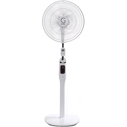 Genesis High Velocity 16 Inch DC Stand Fan with Super Silent Technology, and Remote ()