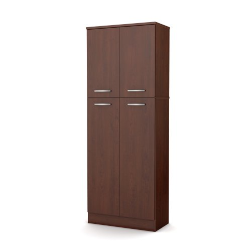South Shore Axess Storage Pantry, Royal Cherry (Tall Pantry Cabinet compare prices)