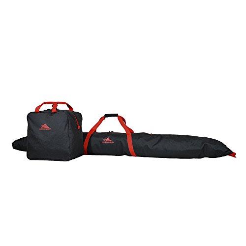 High Sierra Ski Bag/Boot Bag Combo-Black/Red