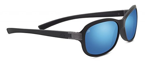 Serengeti 8261 Isola, Sanded Black Glitter Frame, Polarized 555nm Blue Mirror Lens