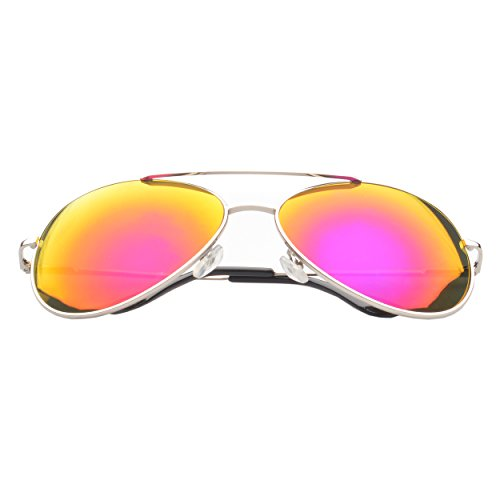 MLC Eyewear ® Aviator Fashion Sunglasses in Silver Frame Pink - Sunglasses Maui Jean