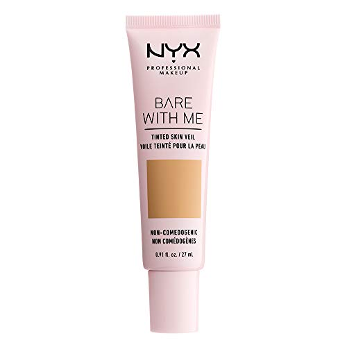 - NYX PROFESSIONAL MAKEUP Bare With Me Tinted Skin Veil, Beige Camel, 0.9 Fluid Ounce