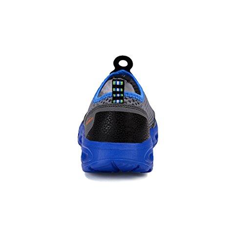 ShePretty Femme Homme Chaussures D'eau Mesh Respirante Chaussures Loafers Sneakers Chaussure Aquatique Unisexe Dark Grey ShfE4
