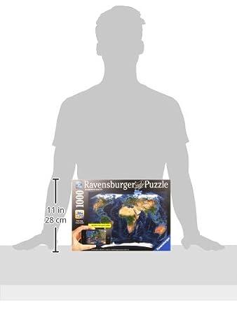 Ravensburger Satellite World Map Augmented Reality Puzzle - Ravensburger satellite world map puzzle