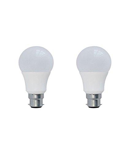 Syska 3 W Plastic LED Bulb B22 Base (Standard Size, Cool Day Light) – Pack of 2